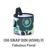 Oh Snap Bin in Fabulous Floral