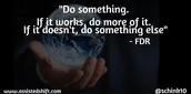 Do Something - FDR