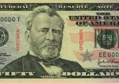 Ulysses Grant on the 50 dollar bill