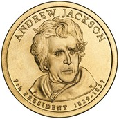 This is a dollar coin of him.
