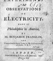 What the first page of Benjamin Franklin's paper he wrote his material's down on.