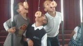 Daniel represented us well by winning the doughnut eating contest!