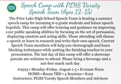 Summer Speech Camp