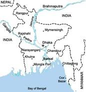 Map of Bangladesh rivers