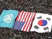 UN, US,  and South Korea Flag