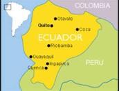 Ecuador's map