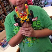 Building projects in the library.