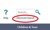 "You can click ""Advanced Search"" for more search options."