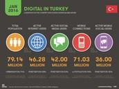 Türkiye'de 46.2 Milyon İnternet Kullanıcısı Var.