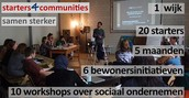 Starters 4 Communities started a new program and will host a party (read if you love Sari and Aukje and their work)