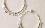 Fringe Hoop Earrings - Silver