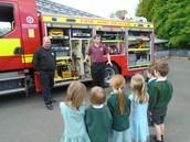 Reception fire engine visit
