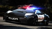 a police lambo in pursuit