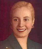 Portrait of Eva Peron