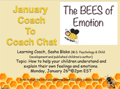 Recording from Coach to Coach January: The Bees of Emotion