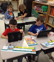 Students Using Ipads for Math Fact Practice