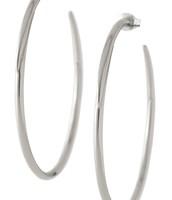 Signature Hoops, White Bronze--$15