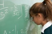 Student with dyscalculia