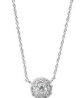 Glint flower cz necklace