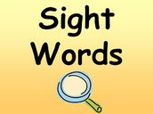 Sight Words for this week