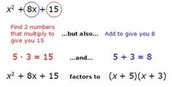 Simple factoring (a=1)