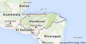 The Map of Honduras
