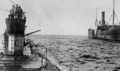 Feburary 1915- Germans announced that they would use submarines to sink without warning any ship they found in the waters around Britain
