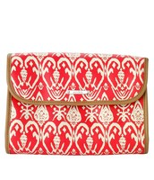 Hang On - Red Ikat (View 1 - closed)