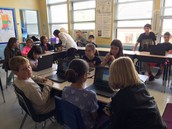 Students learn how to use their new Chromebooks.