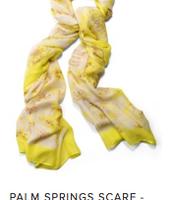 Citrine Floral Scarf Reg $59 ~ Sale $30