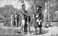A Quaker with a Native American