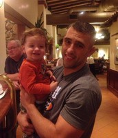 Coach Lockhart and his son, Phoenix.