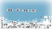 Winter Magnetic Poetry Using Google Slides