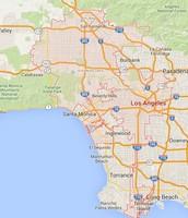 Map of LA