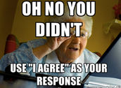 """AVOID """"I AGREE"""" IN DISCUSSION RESPONSES"""