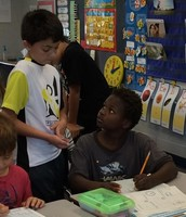 Fifth-graders Mentor Second-Graders During Math Lessons