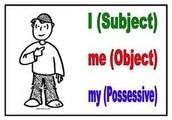 Use first-person pronouns