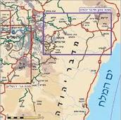 מיקום מדבר יהודה