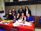 Trustee Solis Visits with Parent Volunteers