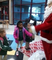 We say hello to Santa every morning!