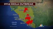 Areas of outbreak