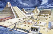 The Royal Palace in the city of Tenochtitlan which is in the Aztec Empire