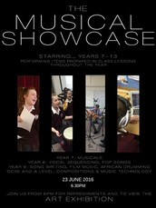 MUSIC DEPARTMENT Musical Showcase and Art exhibition