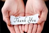 WE APPRECIATE ALL YOU DO...