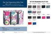 Zip top organizing Utility Tote