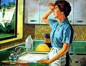 creer que el lugar de la mujer esta en la cocina.