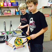 Working with Knex on bridge building!
