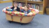 Rub a dub dub, reading in a tub!