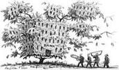 Tree house bank representation