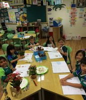 Prep 2AMc are practising their observational skills.